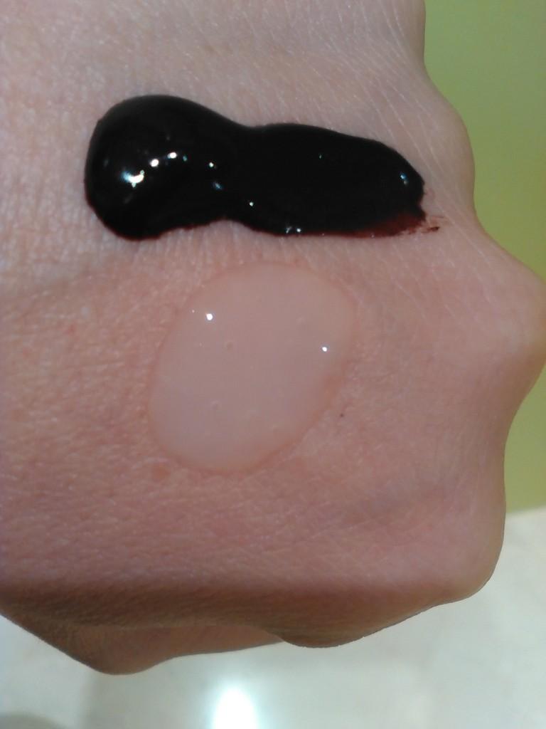 Textura mascarilla color y brillo y emulsion