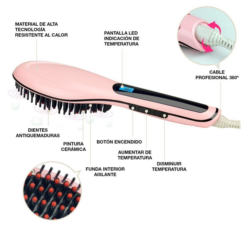Cepilla Alisador Perfect Liss Brush by AGV -