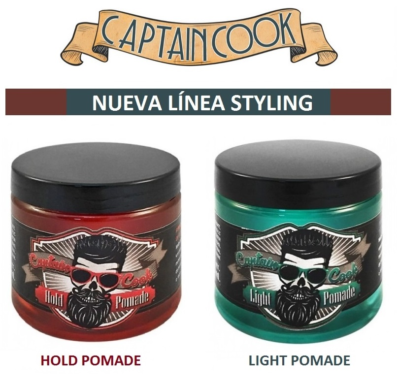 Light Pomade Hold Pomade Captain Cook Styling
