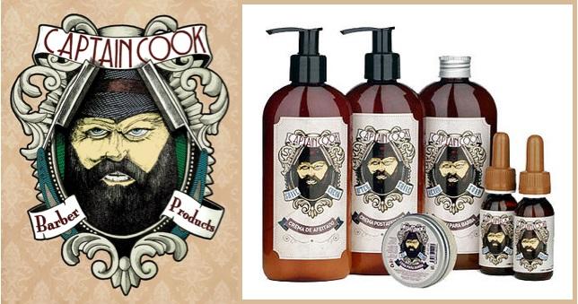 Productos para el cuidado de la barba CAPTAIN COOK