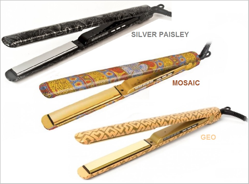 Planchas Profesionales C3 CORIOLISS SILVER PAISLEY MOSAIC GEO