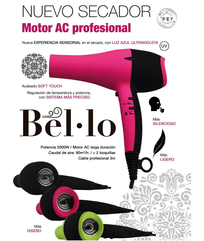 Secador Profesional BEL.LO by AGV, secador ultravioleta