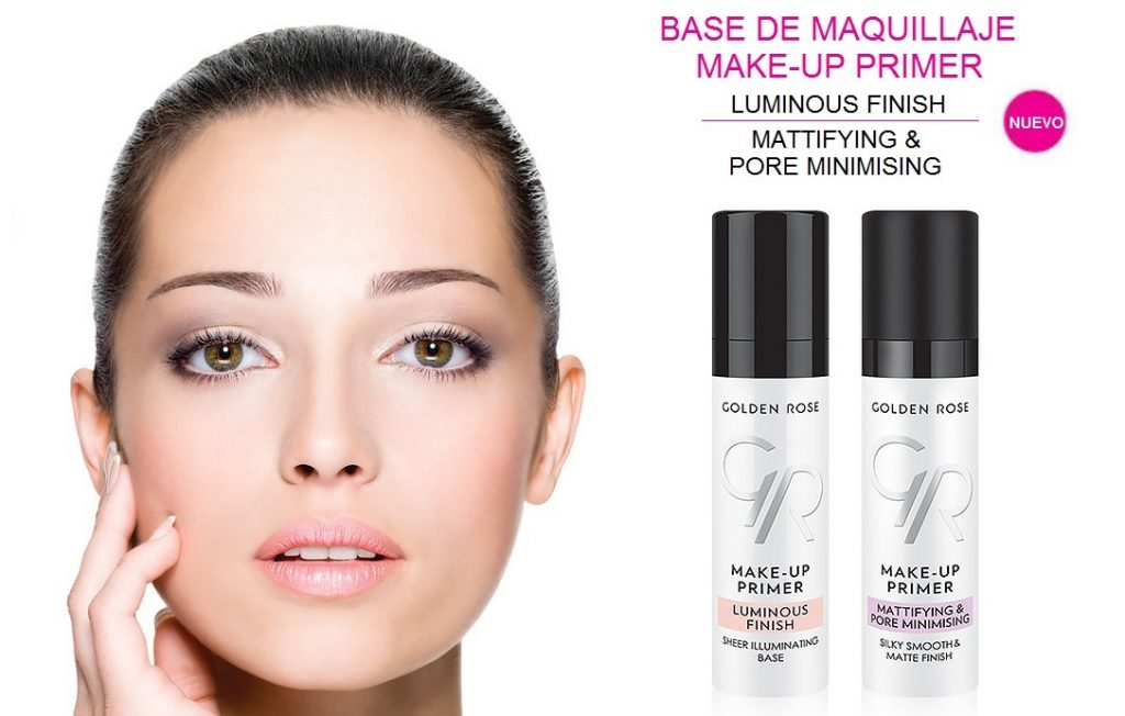 Bases de Maquillaje Primer Make Up GOLDEN ROSE - LUMINOUS Finish Y Mattifying & Pore Minimishing