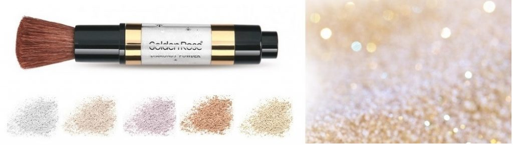 iluminador en polvo cara y cuerpo polvos luminosos Diamonds Body&Face Powder Golden Rose