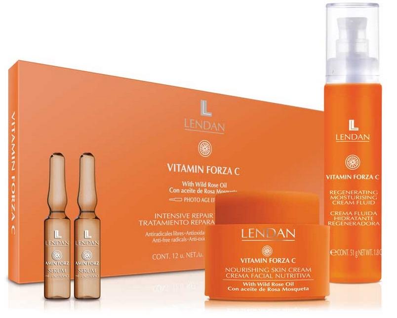 línea cosmética facial Vitamin Forza C de LENDAN con vitamina c para una piel luminosa y fresca disponible en topcabello
