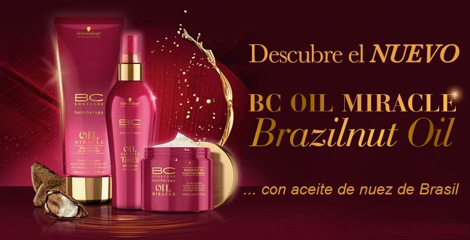 BC Oil Miracle Brazilnut Oil de Schwarzkopf Professional con aceite de nuez de brasil