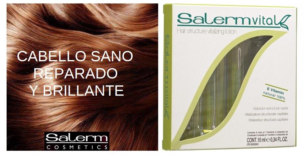 salermvital, tratamiento en ampollas para la reparación del cabello y puntas abiertas de Salerm Cosmetics
