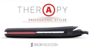 Therapy, la nueva plancha de salon seleccion salerm cosmetics que combina en sus placas titanio, infrarrojos y ceramica.