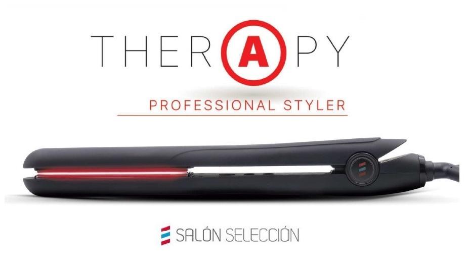 Therapy, la nueva plancha de Salerm Salon Seleccion que combina en sus placas titanio, infrarrojos y cerámica.