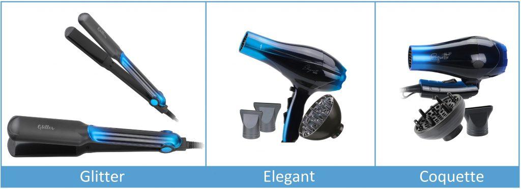 MyHair by AGV, nueva linea de aparatos compuesta por secador profesional iónico, secador de viaje plegable y plancha cerámica