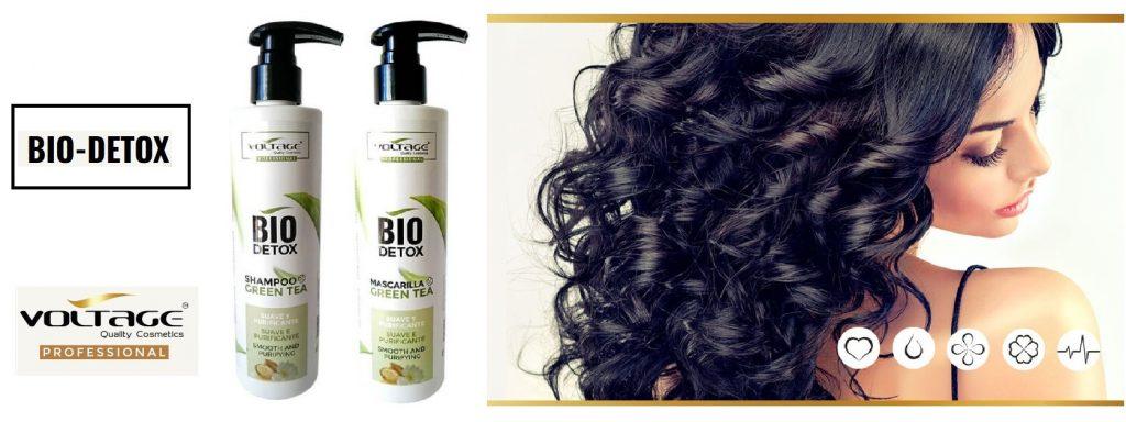 Green Tea Bio Detox de Voltage Cosmetics cuidado profesional del cabello, productos veganos, 100% naturales, sin siliconas, ni parabenos, sin sal ni sulfatos, para el cuidado del cabello seco con propiedades antioxidantes