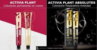 Coloración ACTIVIA PLANT y ACTIVIA PLANT ABSOLUTES. Coloración permanente en crema baja en amoniaco y Coloracion reparadora antiedad para cueros cabelludos sensibles.