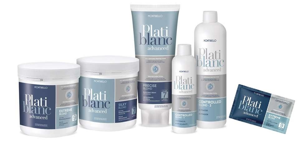 PLATIBLANC ADVANCED el nuevo sistema de decoloración cosmética de Montibello que protege el cabello y el cuero cabelludo