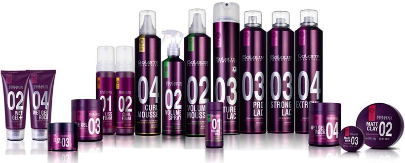 Productos de Fijación y Acabado Familia PROLINE de Salerm Cosmetics
