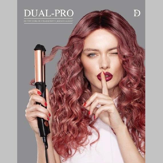 Nueva plancha DUAL-PRO Salon Seleccion Salerm, una plancha 3 en 1 para alisar, ondular y rizar con un unico aparato, sin cambio de cabezales.